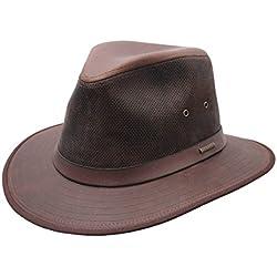 Stetson - Sombrero fedora cuero hombre Sikeston - talla L