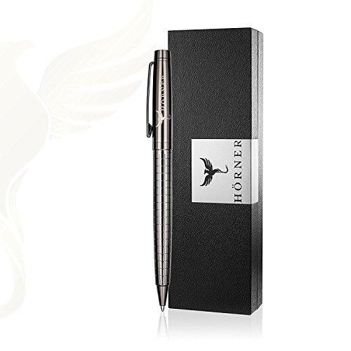 HÖRNER Urban - Hochwertiger Kugelschreiber schwarz aus Metall in edler Geschenkbox