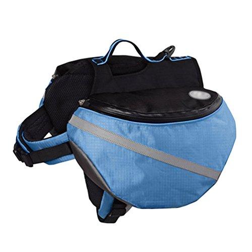 YiJee Haustier Rucksack Hund Satteltasche Hunde Harness Tasche Fuer Outdoor Wandern Camping Blau XS
