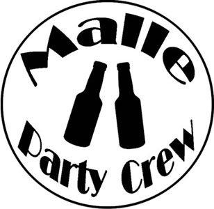 Mister Merchandise Herren Men V-Ausschnitt T-Shirt Malle - Party Crew Tee Shirt Neck bedruckt Weiß