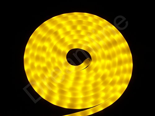 LED Lichtschlauch Warmweiß 10m Milchig - Neon Effekt - 230V - 360 LEDs - Dimmbar - IP44/68