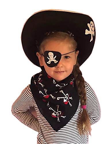 Kind Piraten Punk Kostüm - Evil Wear Fasching-Set Kinder Piraten-Verkleidung Hut Nicktuch Augenklappe
