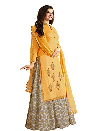 Prachi Desai Presents latest Fancy New Arrival Women Yellow Print Georgette Anarkali...