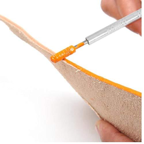 Zonster Dual-Purpose 2 Messing Kopf Leder Edge-Oil Gluing Dye Pen Paint Roller Werkzeug 30# (Edge Leder Lack)