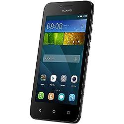 Huawei Ascend Y5 Smartphone, Memoria RAM da 1 GB, Processore Qualcomm Snapdragon S210, Fotocamera 5 MP, Nero/Bianco, Marchio TIM
