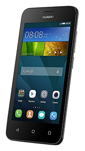 Huawei Ascend Y5 Smartphone, Memoria RAM da 1 GB, Processore Qualcomm Snapdragon S210, Fotocamera 5 MP, Nero, Marchio TIM