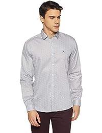 Van Heusen Men's Printed Slim Fit Casual Shirt