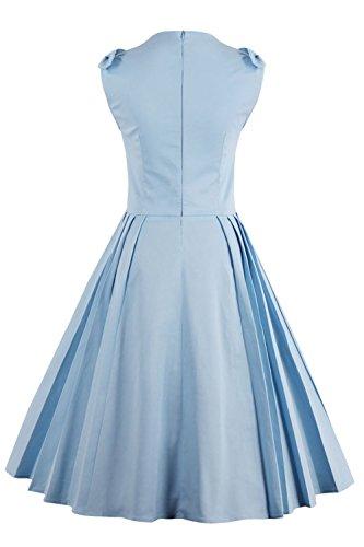 Babyonline® 2017 Mode Damen Vintage Kleider 1950er 1960er Jahre Retro  Kleider Abendkleider Partykleid Karnevalkleid Blau ...