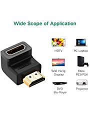 Ascension ® L Shaped or 90 Degree or Right Angle HDMI Male to Female HDMI Adapter