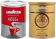 Lavazza Qualita Rossa Ground Coffee Powder, 250g + Lavazza Qualita Oro, Perfect Symphony, 250 g
