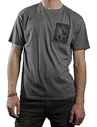 Herren T-Shirt SANTA CRUZ - Praying Hands Pocket - Carbon Black - SCTSP