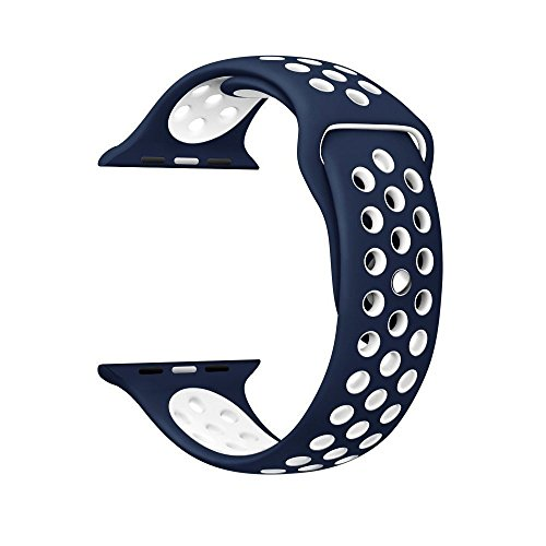 Memore Nike Sport replacement Loop Band for Apple Watch all Models (38mm, Blue-White)  available at amazon for Rs.999
