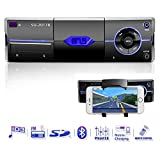Autoradio mit Bluetooth, Single Din In-Dash Autoradio Audio-Receiver Unterstützt 18 FM/MP3/USB/Handy Halterung/MMC/SD/Fernbedienung von Ironpeas