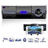 Autoradio mit Bluetooth, Single Din In-Dash Autoradio Audio-Receiver Unterstützt 18 FM/MP3/USB/Handy Halterung/MMC/SD/Fernbedienung von Ironpeas