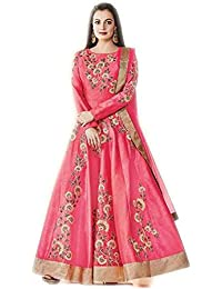 Exclusive Designer pink silk unstitched suit