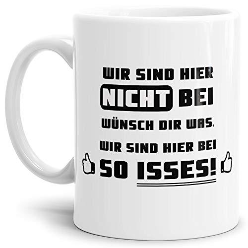Tasse mit Spruch Wünsch dir was - Kaffeetasse/Mug / Cup - Qualität Made in Germany