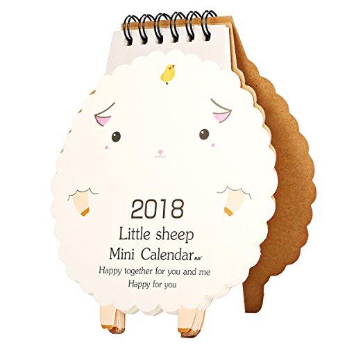 KING DO WAY 2018 Mini Karikatur Kalender Tischkalender Cartoon-Stil Lamm