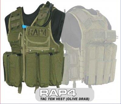 "RAP4 Taktische Weste ""Tactical Ten"" - OLIV - extra groß zu RAP4"