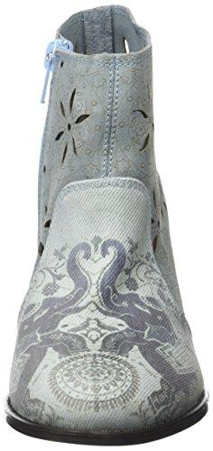 Desigual Cris Jeans, Bottes Chelsea Femme Bleu (Blue 5098)
