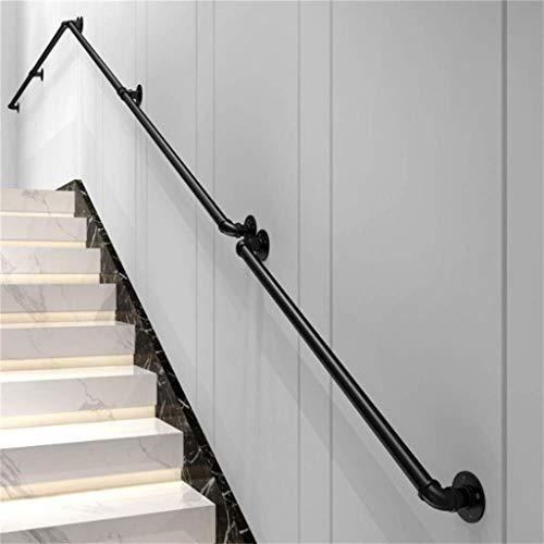 Treppen Handläufe Schwarz Wasserrohr Treppengeländer, Wand Treppengeländer Startseite Indoor- und Outdoor-Duplex Schmiedeeisen Bar Kindergarten Geländer Griff (Größe: 30-600cm) (Size : 430cm) -