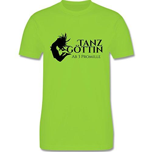 Sprüche - Tanzgöttin ab 3 Promille - Herren Premium T-Shirt Hellgrün