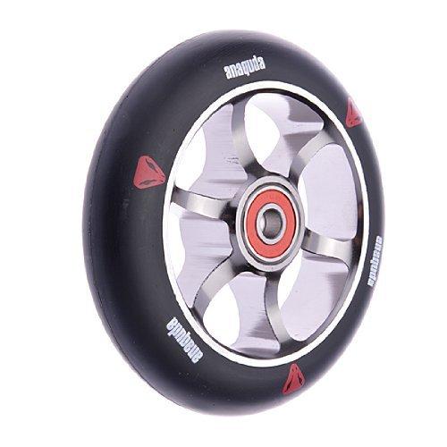 Preisvergleich Produktbild Anaquda Spoked 110mm 88A Wheel + Abec 9 Lager Stund Scooter Roller Rolle titan / Black