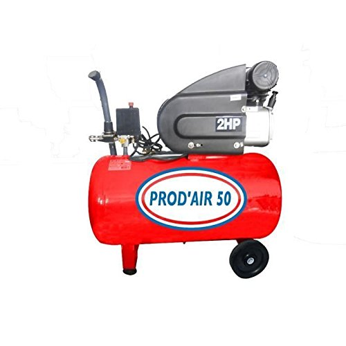 PRODAIR PRODAIR50H Compresseur 50 litres 2 CV Coaxial Huile, Gris 00bd82dc0193