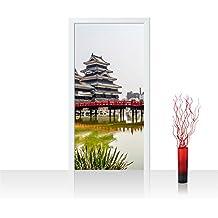 Liwwing - Papel pintado para puerta de fieltro de 100 x 211 cm imagen de la torre eiffel de ciudad de japón