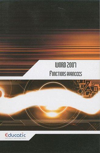 Word 2007 : Fonctions avancées