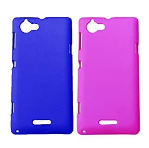 Winsome Deal 2 Pieces of Exclusive Quality Hard Back Cover Case For Sony Xperia L S36H
