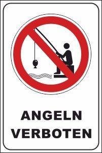 Schwimmer / Angeln Schild -199- Keine Angler 29,5cm * 20cm * 2mm, ohne Befestigung