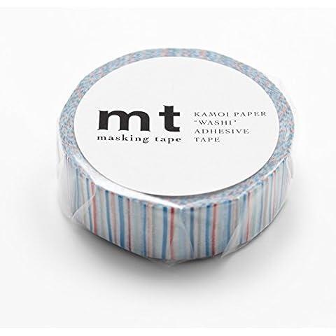 MT Washi Masking Cinta de rayas y azul (mt01d166)