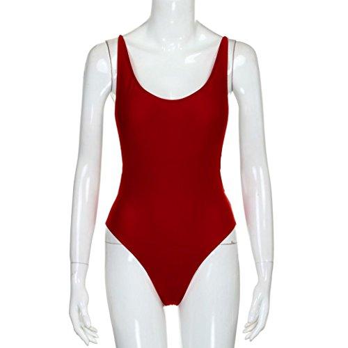 Bikini Sexy Set,WINWINTOM Bikini Donna Push-up Reggiseno imbottito Costume da bagno Costumi da bagno Costume da bagno Femme Beachwear Rosso