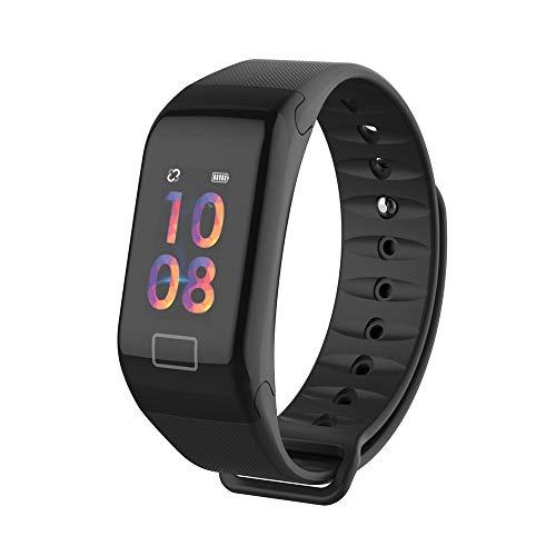 Smart-Armband Sportuhr Fitness-Tracker,Dorical Outdoor-Aktivitätsarmband mit Schrittzähler, Schlaf-Herzfrequenz-Monitor, Anruf SMS, SNS Alert OLED Touchpad Bluetooth Watch, für Android iOS(Schwarz)