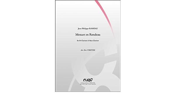 Menuet en Rondeau RAMEAU Duo Clarinette et Clarinette Basse J PARTITION CLASSIQUE P