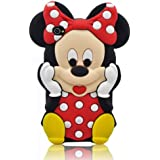 JBG 3d Cartoon Minnie Mouse Soft Silicon Case Cover Compatible for Apple Ipod Touch 4/4g/4th Generation(Red)
