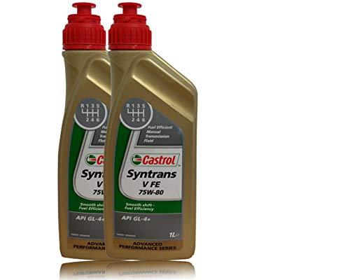 Castrol Syntrans V Fe 75W-80 2X 1 L Olio per Cambio