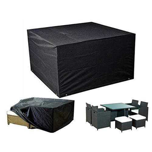 Hochleistungs-wasserdichte Möbelabdeckung, schwarze Tisch- und Stuhlabdeckung der Garten-Würfel-Abdeckung im Freien (Size : 123 * 123 * 74cm) (Fehler In Kunststoff-würfel)