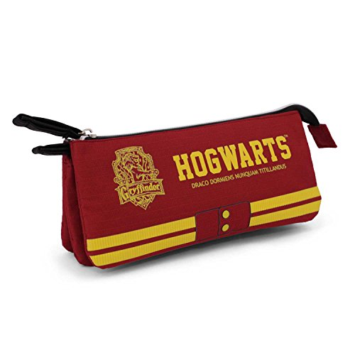 Harry Potter Gryffindor Estuches, 24 cm, Rojo