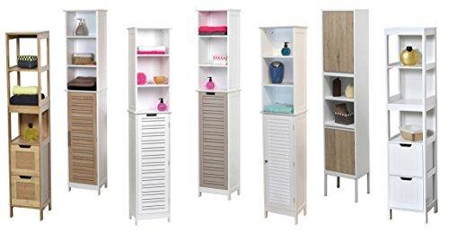 Mueble columna de sala de ba o 2 estantes y 2 puertas for Muebles de sala amazon