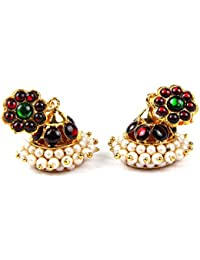Adarsha Dress Palace Bharatnatyam Kuchipudi Dance Temple Ornament Jhumkis