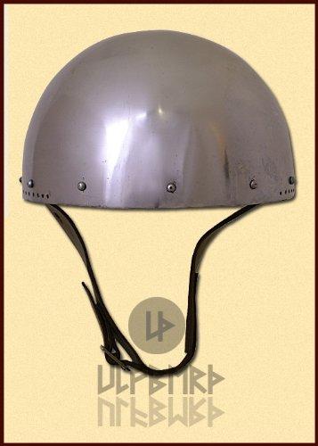 Ulfberth Hirnhaube für Schaukampf, 2mm Stahl, Gr. L Cerveliere, secret helmet, battle ready Helm Topfhelm Mittelalter Kreuzritter -