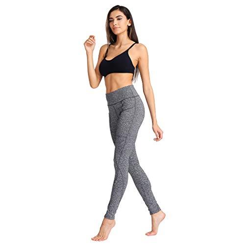 Yebutt Sommer Yogahose DamenMitte Taille Elastische Band DüNne Lange Pilates Hose Volltonfarbe Patchwork Atmungsaktive Laufhose FüR Leggings -