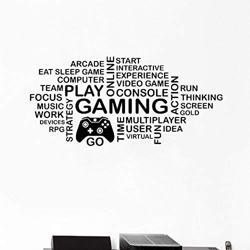 Bomdow Griff Wandaufkleber Art Decor Gamer Gaming Poster Vinyl Wandtattoos Wandbild Videospiel Sticker86X40 Cm