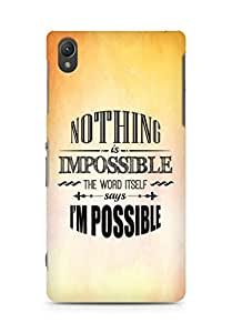 AMEZ Nothing is Impossible Back Cover For Sony Xperia Z2