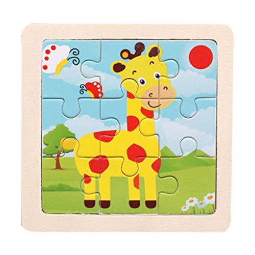 Wascoo Kinderspielzeug,Puzzle Spielzeug Kindertag Hölzernes Tierpuzzlespiel-pädagogisches Entwicklungsbaby scherzt Spielzeug