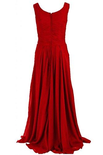 Sunvary maniche lunghe guaina abito da sera elegante Chiffon, con scritta Mother of the Bride Red