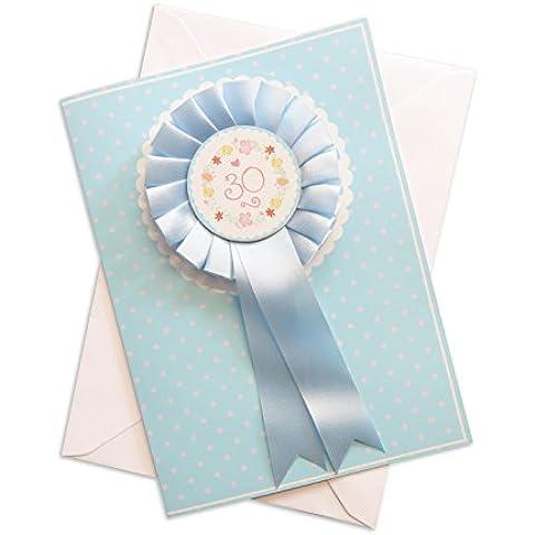 Feliz cumpleaños Rosette Floral personalizada tarjeta