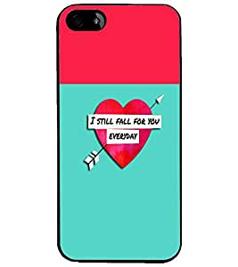 PrintDhaba Quote D-2632 Back Case Cover for APPLE IPHONE 5 (Multi-Coloured)