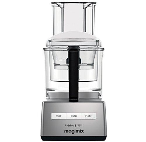 Magimix 148399 CS 5200 XL Küchenmaschine, Chrom matt